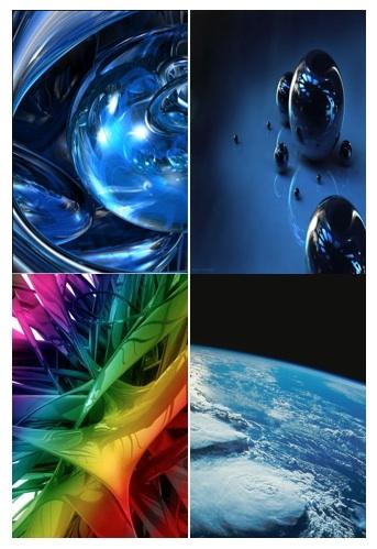 ... su sfondi in 3D artistici e sfondi in 3D riferiti allo spazio