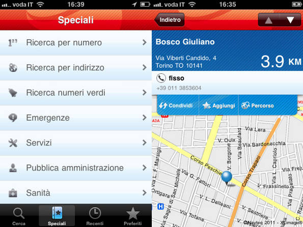Seat PagineBianche per iPhone