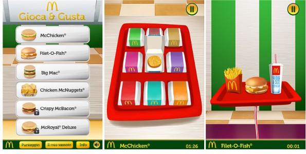 Gioca & Gusta con McDonald's. E il premio è un hamburger gratis!