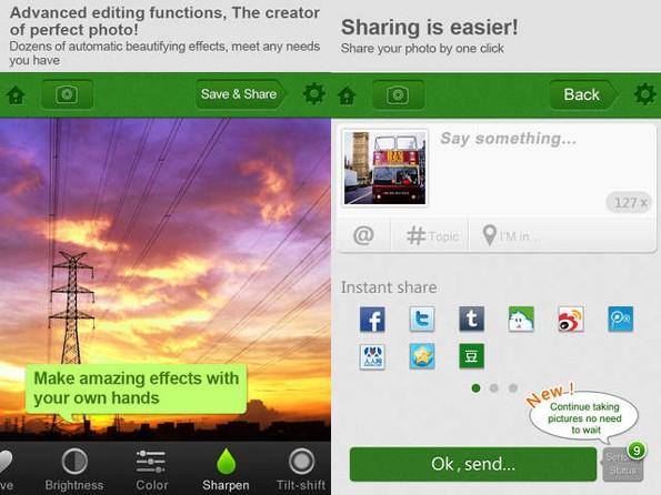 POCO Camera. Un'ottima applicazione di foto ritocco per iOS in promozione gratuita